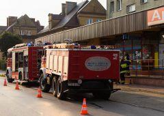 Strażacy wezwani do niegroźnego pożaru sklepu w Suchedniowie