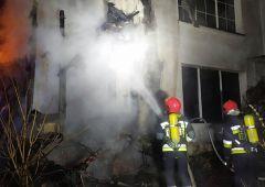 Pożar budynku mieszkalnego w Skarżysku-Kamiennej