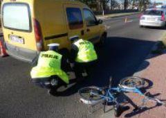 Potrącenie rowerzysty w Bliżynie