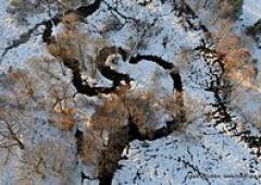 Zimowy powiat skarżyski - oczami ptaka