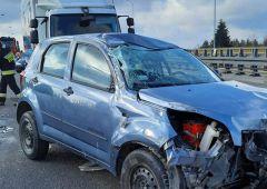 Wypadek na trasie S7 w Skarżysku-Kamiennej