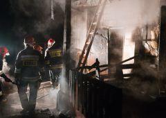 Pożar domu w Parszowie