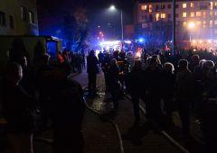 Ewakuowano mieszkańców wieżowca przy Żeromskiego 43