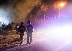 Pożar domu w Majkowie - jedna osoba trafiła do szpitala
