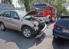 Wypadek na skrzyżowaniu dróg