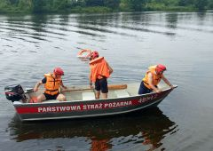 Doskonalenie zawodowe skarżyskich strażaków z zakresu działań na akwenach wodnych