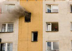 Pożar mieszkania przy Kossaka 8