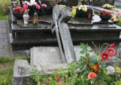 Wandalizm na cmentarzu