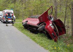 Trzy osoby ranne w wyniku wypadku pasażerskiego busa w Ubyszowie