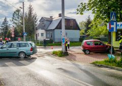 Wymuszenie pierwszeństwa na skrzyżowaniu Spółdzielczej i Kochanowskiego