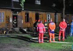 Pożar baraku przy ul. Staffa