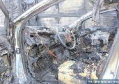 Pożar auta na S-7