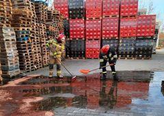 Duży wyciek oleju napędowego w Skarżysku-Kamiennej