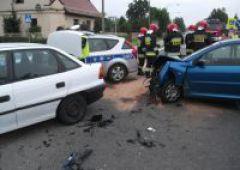 Wypadek drogowy na ul. Warszawskiej w Suchedniowie