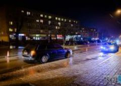 Potrącenie pieszego na ulicy Sokolej