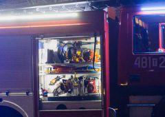 Pożar, którego nie było - nocny fałszywy alarm na Rejowskiej 36