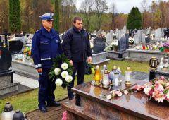 Uczcili pamięć zmarłego kolegi