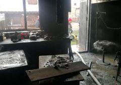 Pożar lakierni w zakładzie stolarskim w Suchedniowie
