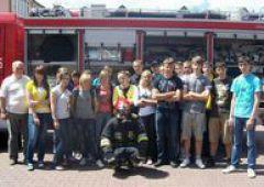 Ćwiczyli u strażaków