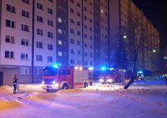 Pożar piwnicy w bloku wielorodzinnym ul Piłsudskiego w Skarżysku-Kamiennej