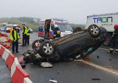 Dachowanie pojazdu na s-7 – Łączna Powiat Skarżyski