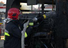 Pożar autobusu