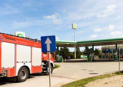 Ewakuowano stację BP - powodem pozostawiona bez nadzoru walizka