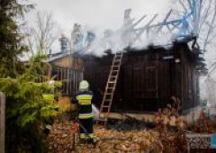 Pożar budynku mieszkalnego w Suchedniowie