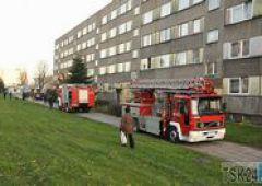 Pożar w bloku przy ul. Krasińskiego 8