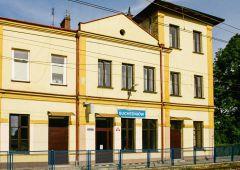 Pożar budynku dworca PKP w Suchedniowie