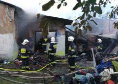 Spłonął budynek mieszkalny  w Skarżysku Kościelnym